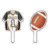 DISCONTINUED FOOTBALL CUPCAKE TOPPER PARTY SUPPLIES