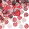 RED SWIRL CONFETTI (12/CS) PARTY SUPPLIES