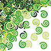 LIME SWIRL CONFETTI (12/CS) PARTY SUPPLIES