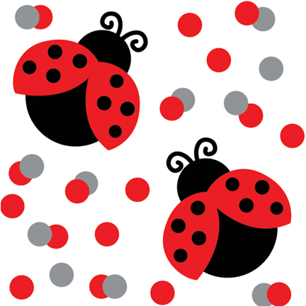 Click for larger picture of LADYBUG FANCY CONFETTI PARTY SUPPLIES