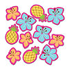 DISCONTINUED PINK LUAU FUN TABLE SCATTER PARTY SUPPLIES