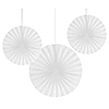 WHITE PAPER FANS (18/CS) PARTY SUPPLIES