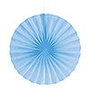 LT BLUE 16 IN. FANS (12/CS) PARTY SUPPLIES