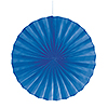 BLUE 16 IN. FANS (12/CS) PARTY SUPPLIES