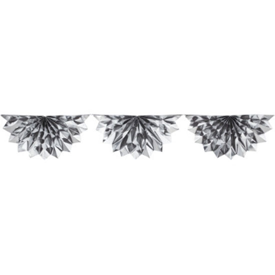 SILVER FOIL BUNTING GARLAND PARTY SUPPLIES