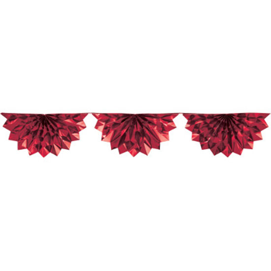 RED FOIL BUNTING GARLAND PARTY SUPPLIES