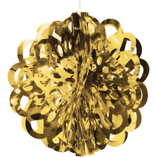 GOLD 16 IN FOIL BALL (12/CS) PARTY SUPPLIES