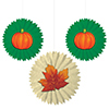 DISCONTINUED LEAVES-PUMPKINS TISSUE FANS PARTY SUPPLIES