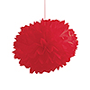 RED FLUFFY TISSUE BALLS (36/CS) PARTY SUPPLIES