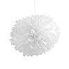 WHITE FLUFFY TISSUE BALLS (36/CS) PARTY SUPPLIES