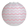 CHEVRON PINK ROUND LANTERN PARTY SUPPLIES