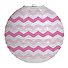 CHEVRON CANDY PINK ROUND LANTERN PARTY SUPPLIES