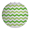 CHEVRON LIME ROUND LANTERN PARTY SUPPLIES