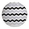 DISCONTINUED CHEVRON BLACK ROUND LANTERN PARTY SUPPLIES