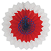 RED-WHITE-BLUE TISSUE FANS (12/CS) PARTY SUPPLIES
