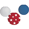 RED-WHITE-BLUE LANTERN ASSORTMENT (36/CS PARTY SUPPLIES
