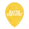 DISCONTINUED LT YELLOW HAPPY BDAY BALLN PARTY SUPPLIES