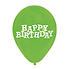 LIME HAPPY BIRTHDAY LATEX BALLOONS PARTY SUPPLIES