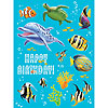 DISCONTINUED OCEAN PARTY STICKERS PARTY SUPPLIES