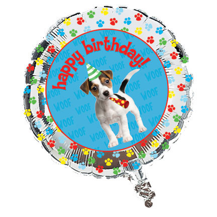 Click for larger picture of PAW-TY TIME! FOIL BALLOON (12/CS) PARTY SUPPLIES