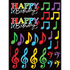 DISCONTINUED MUSIC NOTES STICKERS PARTY SUPPLIES