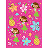 DISCONTINUED PINK LUAU FUN STICKERS PARTY SUPPLIES
