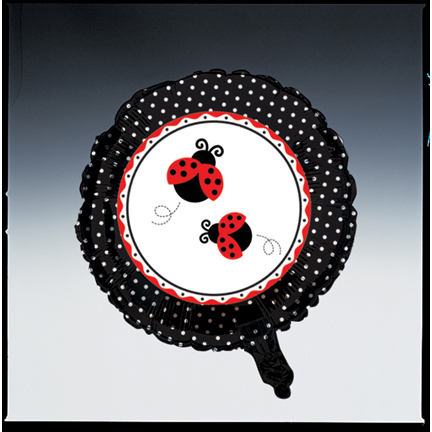 Click for larger picture of LADYBUG FANCY MYLAR BALLOON PARTY SUPPLIES
