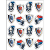 DISCONTINUED VALIANT KNIGHT STICKER PARTY SUPPLIES