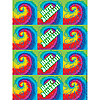 DISCONTINUED TIE DYE FUN STICKER PARTY SUPPLIES