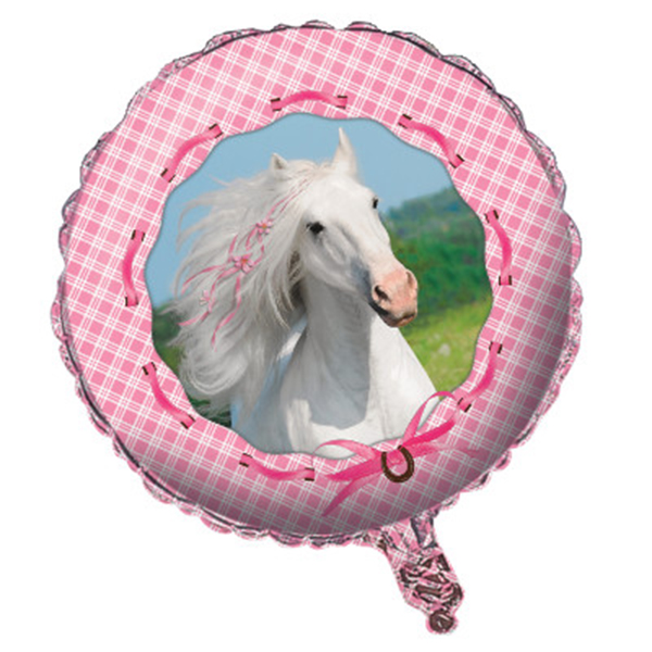 Click for larger picture of HEART MY HORSE FOIL BALLOON PARTY SUPPLIES