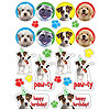 DISCONTINUED PAW-TY TIME! VALUE STICKERS PARTY SUPPLIES