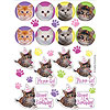 PURR-TY TIME! VALUE STICKERS (48/CS) PARTY SUPPLIES