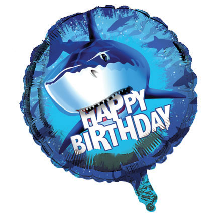 Click for larger picture of SHARK SPLASH FOIL BALLOON BD (12/CS) PARTY SUPPLIES