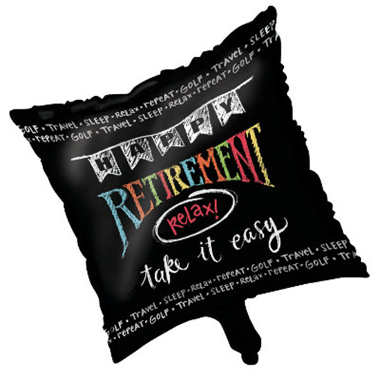 RETIREMENT CHALK FOIL BALLOON PARTY SUPPLIES