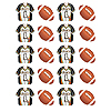 DISCONTINUED FOOTBALL VALUE STICKERS PARTY SUPPLIES