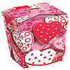 DISCONTINUED FROSTED HEARTS QUART PAIL PARTY SUPPLIES