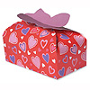 DISCONTINUED HEARTS CANDY/COOKIES BOX PARTY SUPPLIES