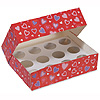 DISCONTINUED HEARTS CUPCAKE BOX PARTY SUPPLIES