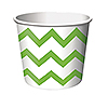 LIME CHEVRON TREAT CUPS (72/CS) PARTY SUPPLIES