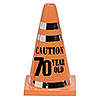 DISCONTINUED 70 CAUTION CONE PARTY SUPPLIES