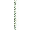 LIME-WHITE PAPER STRAWS (144/CS) PARTY SUPPLIES
