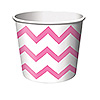 CANDY PINK CHEVRON STRIPE TREAT CUPS PARTY SUPPLIES