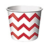 RED CHEVRON STRIPE TREAT CUPS PARTY SUPPLIES