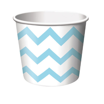 LT BLUE CHEVRON TREAT CUPS (72/CS) PARTY SUPPLIES
