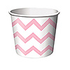 PINK CHEVRON STRIPE TREAT CUPS PARTY SUPPLIES