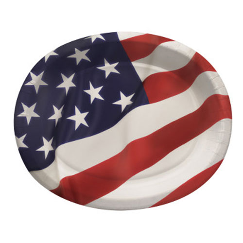 DISCONTINUED FLAG CELEBRATION PLATTERS PARTY SUPPLIES