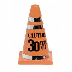 Click for larger picture of 30 CAUTION CONE (12/CS) PARTY SUPPLIES