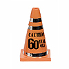 60 CAUTION CONE PARTY SUPPLIES