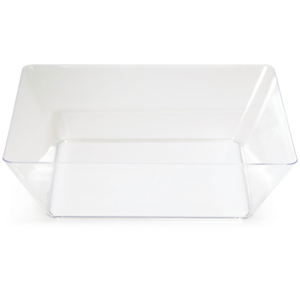 Click for larger picture of CLEAR 11 IN. PLASTIC SQUARE BOWL(6/CS  sc 1 st  Partypro.com & bulk clear plastic plates cutlery party supplies - clear 11 in ...