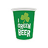 GREEN BEER PLASTIC CUPS PARTY SUPPLIES